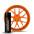 Orange Оранжевый баллончик жидкой резины larex