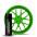 Green Зеленый баллончик жидкой резины Larex