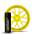 Желтый баллончик жидкой резины Larex